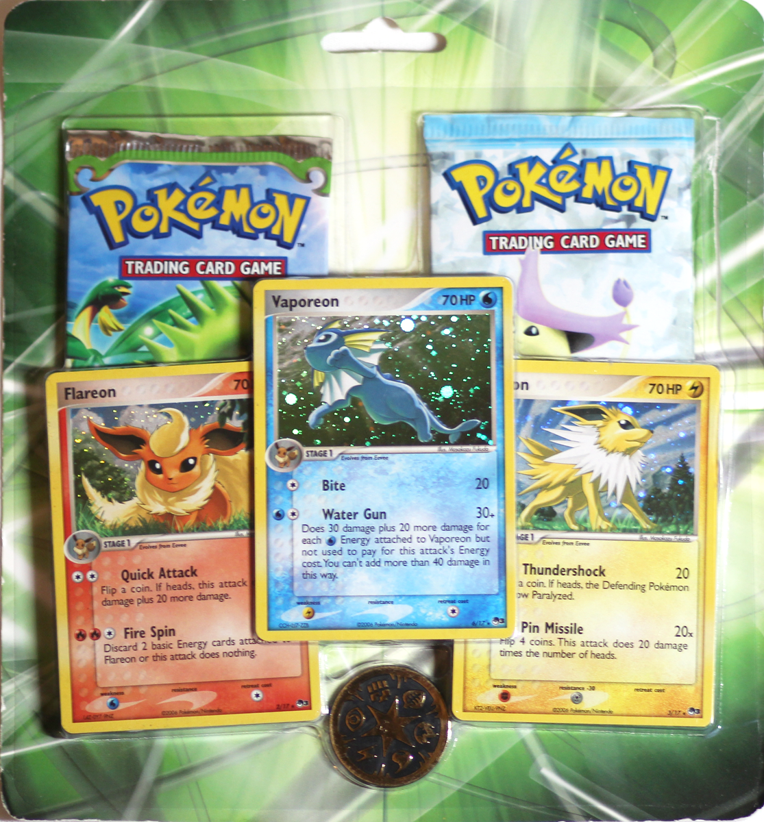POKEMON EEVEELUTIONS PROMO 2 PACK BLISTER | DRAGON FRONTIERS | CRYSTAL  GUARDIANS